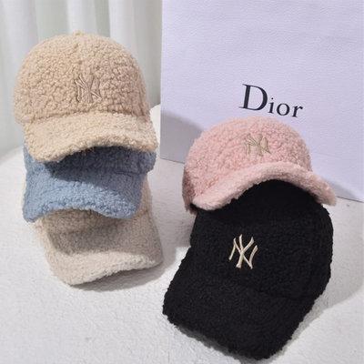 糖衣子輕鬆購【AS0244】 韓版保暖羊羔毛棒球帽百搭毛絨鴨舌帽遮陽帽