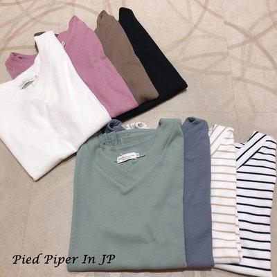 Pied Piper日本代購 CL022 earth music&ecology多色系V領羅紋T恤