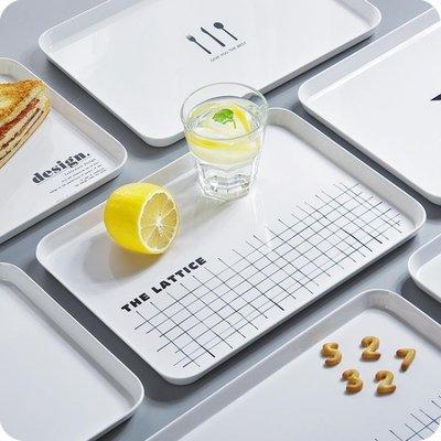 長方形密胺托盤 北歐客廳放水杯茶盤零食點心水果盤餐盤 IGO