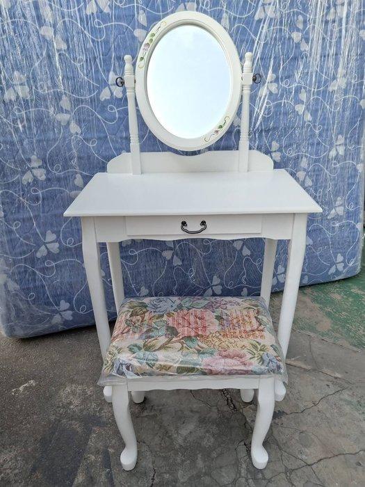 非凡二手家具 全新品白色化妝桌椅組*梳妝台*化妝檯*鏡台*化妝桌*書桌*造型桌*立鏡*公主風