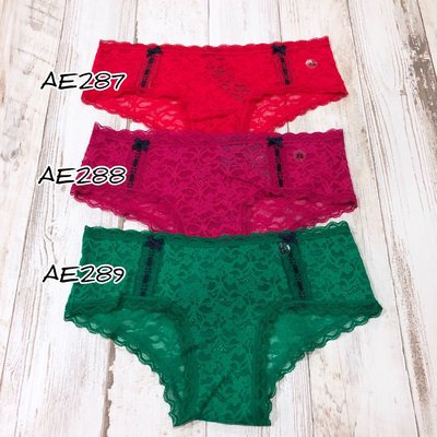 Maple麋鹿小舖 American Eagle * AE  蕾絲低腰小褲褲 * ( 現貨3色 )