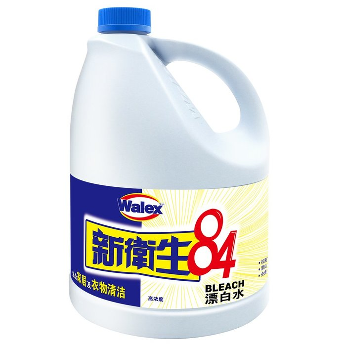 888利是鋪-威潔士新衛生84消毒液漂白家用白色衣物去黃衣服洗白染色還原3L