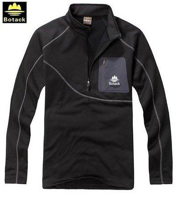 【露西小舖】Botack POLARTEC榆木細絨保暖運動衫跑步衫慢跑衣保暖衫(透氣排汗抗風抗磨舒適4面彈性布料內裡抓絨