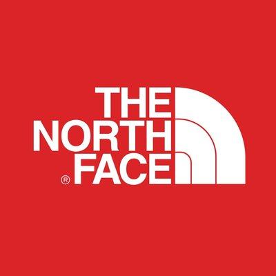 The North Face 紅色 方框 LOGO 3M防水貼紙 尺寸88mm