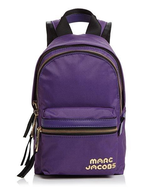 Coco 小舖 MARC JACOBS Trek Pack Mini Nylon Backpack 紫色迷你尼龍後背包