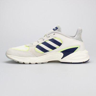 =E.P=ADIDAS 90S VALASION 米白色 白藍綠色 復古 休閒鞋 男版 EE9895