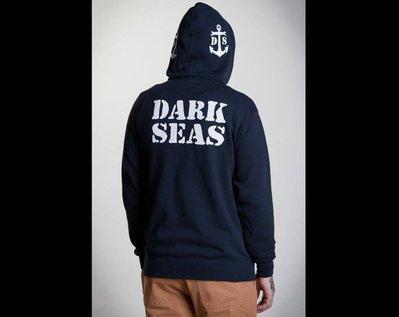 【AXE】DARK SEAS - MOORING 連帽拉鍊外套[深藍]美牌 帽T 潮流 硬派 重機 帽T 外澳 帽夾