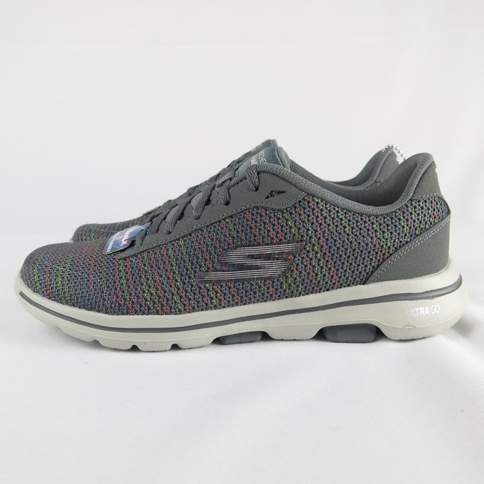 【iSport愛運動】Skechers GO WALK 5 - GRACIOUS 健走鞋 15935CCMT 灰 女款