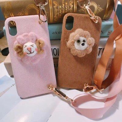 ☆韓元素╭☆Mobile-Style iPhone 11 保護套 6.1吋 軟式絨毛殼 粉羊 棕獅 軟殼 附掛繩