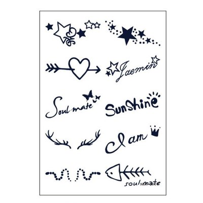 【萌古屋】愛心星星符號 - 半永久果汁紋身微刺青 擦不掉紋身刺青XLM-008 K12