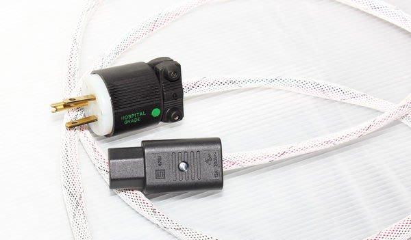 [山姆音響]音響電源排插專用電源線--美國Carol原銅線AWG10-02 /1米 無地線