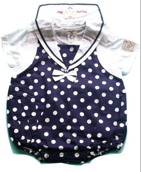可愛寶貝---◎◎全新T恤 + 海軍領吊帶褲◎◎☆☆人氣商品☆☆