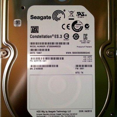 5Cgo【權宇】Seagate 希捷 ST2000NM0033 2TB 2T 7200轉 企業級硬碟 SATA3 含稅