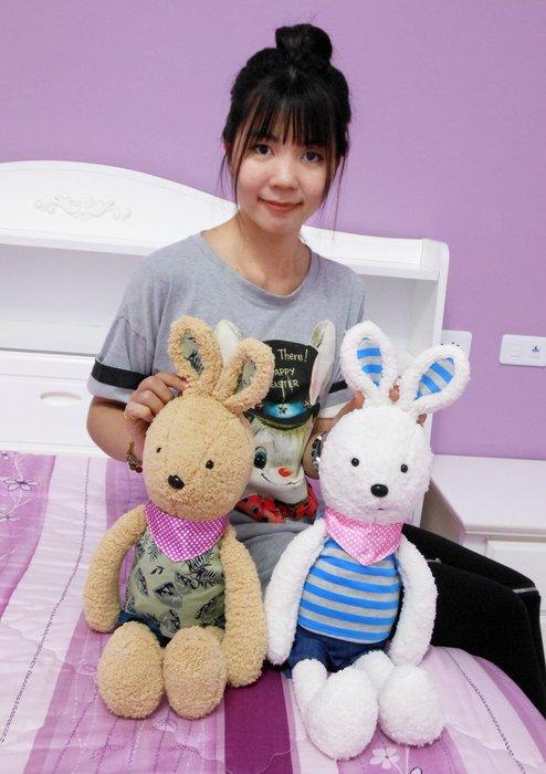 娃娃夢幻樂園~可愛兔玩偶~歡樂兔~兔子娃娃~生日禮物~情人節~禮物全省宅配