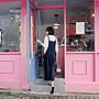 熱銷可愛口袋寬褲連身褲吊帶褲  細肩帶寬鬆棉麻背帶褲褲裙 艾爾莎【TAE8349】