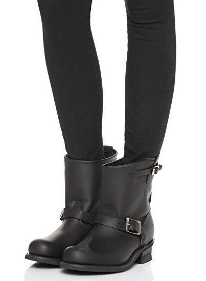 ◎美國代買◎Frye Engineer 8R純黑色經典8R工程師短靴~經典不敗短靴款