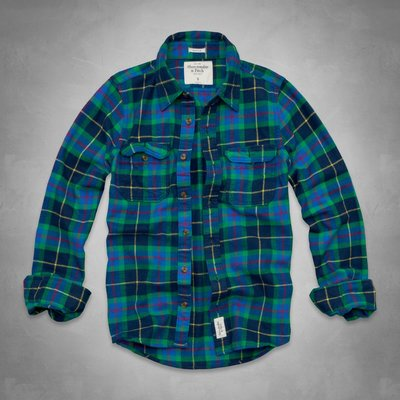 愛麗絲小舖~Abercrombie & Fitch Lake Harris Flannel Shirt法蘭絨格子襯衫~