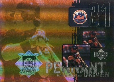 (T)明星捕手 Mike Piazza 2000 Upper Deck Pennant Driven