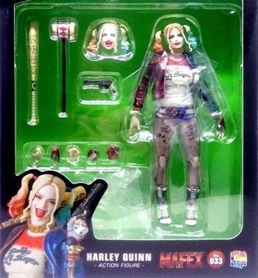 日本正版 MEDICOM TOY MAFEX 自殺突擊隊 小丑女 哈莉 奎茵 可動 公仔 日本代購