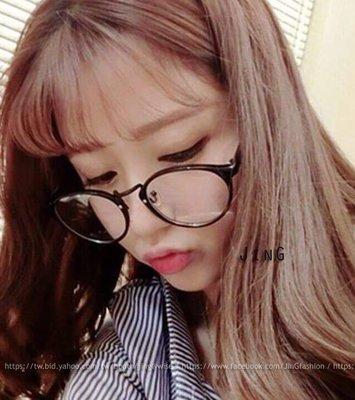 【JinG】韓版 俏皮可愛圓框平光眼鏡...