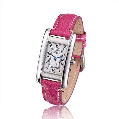 【Woodbury Outlet Coach 旗艦館】COACH 14501076女錶時尚潮流女士石英女腕錶玫紅美國代購100%正品