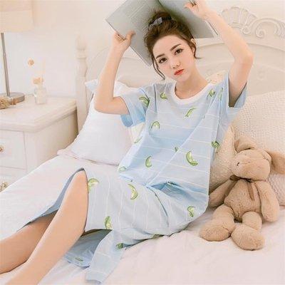睡裙睡衣 浴衣睡裙女棉質短袖可愛卡通韓版公主寬鬆甜美睡衣女家居服