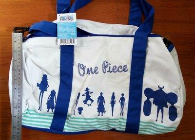 動漫精品海賊王~木棉花正品~全新白色帆布材質大旅行包可提可斜背