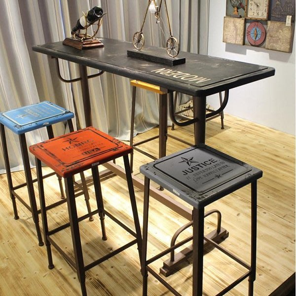 【南洋風休閒傢俱】吧台椅系列 -鐵面吧檯椅 造型吧檯椅 彩色高腳椅 工業風吧椅