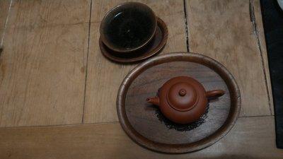 【收藏達仁】日本 老件  實木 茶托 壺承