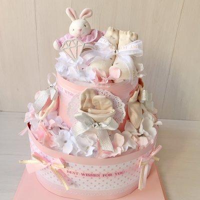 夢幻小兔尿布蛋糕~加大超高CP值