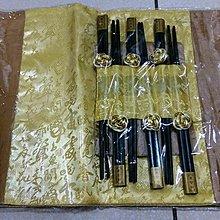 龍廬-出清特價~織錦餐墊同色6入+6雙筷子(黃色) 個人餐具 餐廳裝飾 婚禮小物 筷子 快嫁祝福 餐桌佈置