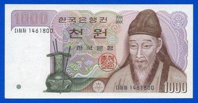 [珍藏世界]南韓1983年1000元P47全新品相