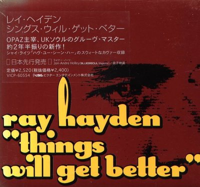 K - Ray Hayden - Things Will Get Better - 日版 - NEW