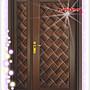 【鴻運】奢華系列- 木雕編瓦鋼木門組 1。大門...