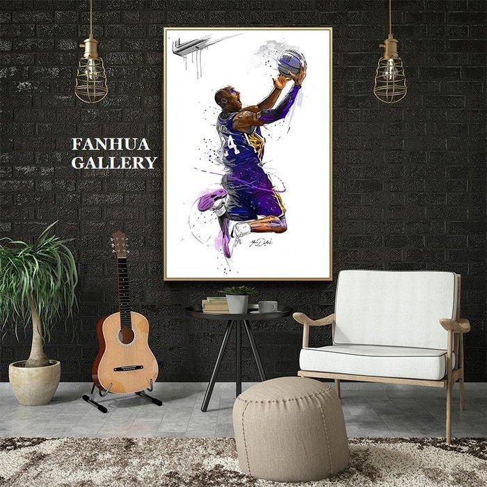 C - R - A - Z - Y - T - O - W - N KOBE科比紀念掛畫NBA球衣裝飾掛畫臥室籃球版畫