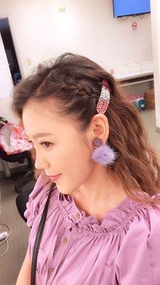 歐美日韓時尚明星復古毛球耳夾耳環(蔡裴琳三立八點檔炮仔聲劇中穿搭)