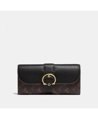 COACH Horse and Carriage Coated Canvas Beat Wallet