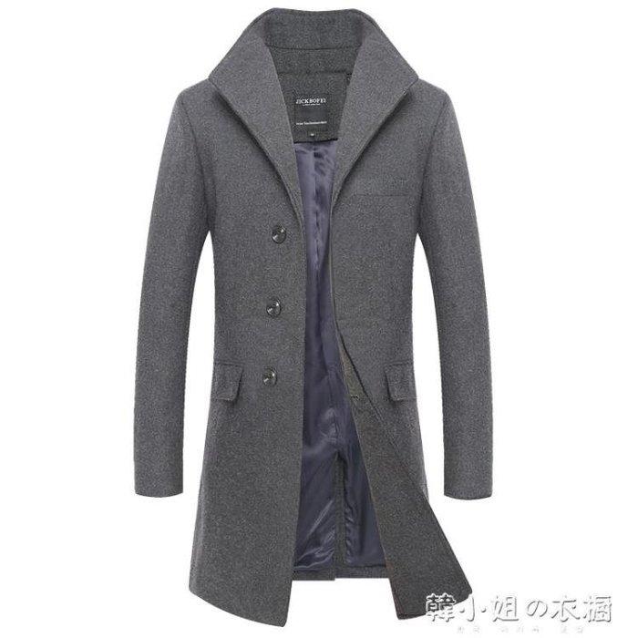 男士新款帥氣韓版潮流中長款商務子大衣男春季款外套