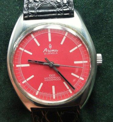 OQ精品腕錶   瑞士雅頓手上鍊機械男錶壓克力鏡面不含龍頭36MM我是修錶師請安心選購庫存錶