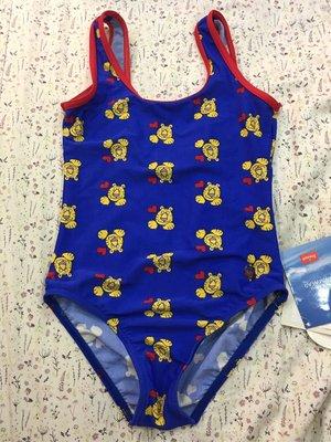。☆全新☆。黛安芬正品兒童連身泳裝(XL)原價$880