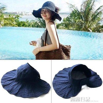 帽子女韓版百搭防紫外線遮陽帽戶外防曬大沿遮臉出游太陽帽