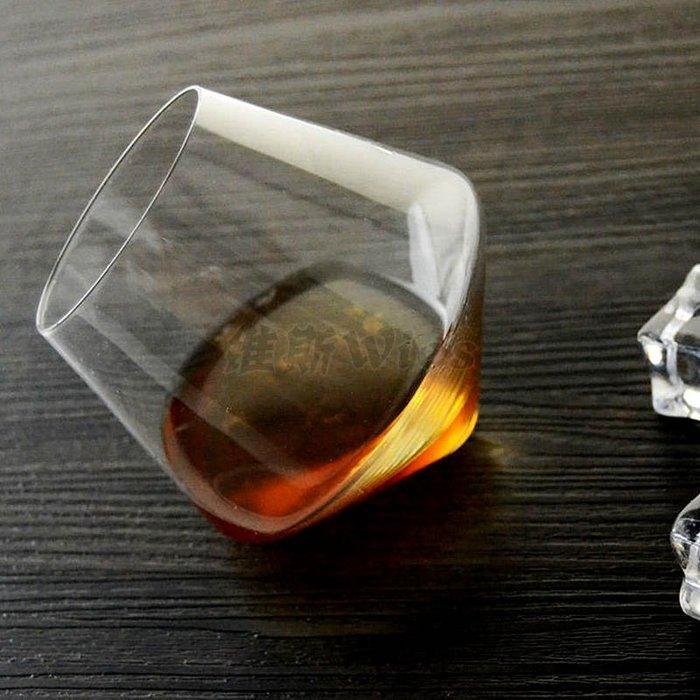 聚吉小屋 #不倒翁威士忌杯創意酒杯洋酒杯烈酒杯 異性杯 玻璃水晶杯子甜品杯