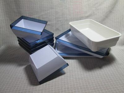 CHINA AIRLINES 中華航空公司 藍白方形皿6個+藍白長形皿2個+米白長方形皿1個 G483