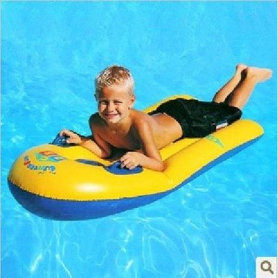 日和生活館 沖浪板兒童加厚戲水浮排加大帶把手游泳圈浮板滑水板 S686