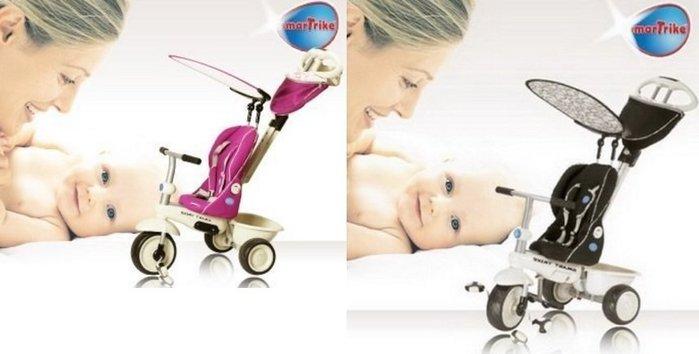 【魔法世界】英國 smarTrike 史崔克 豪華時尚嬰幼4合1多機能三輪車