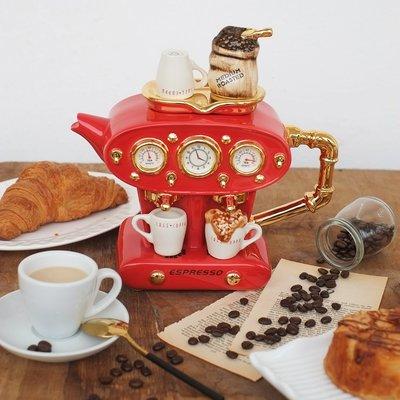 茶壺Ceramic Inspirations手工創意茶壺咖啡機造型禮物家居裝飾擺件公主殿下