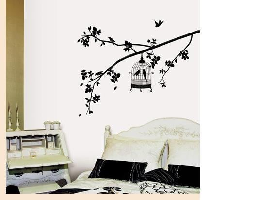 【皮蛋媽的私房貨】韓國壁貼&壁紙*室內設計/裝飾*黑色鳥籠系列