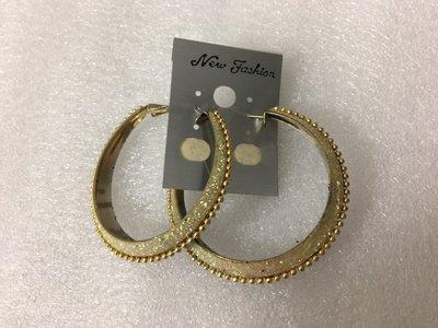 【飾界美~殺很大】歐美品牌 New Fashion 高質感造形針式耳環~僅此一付一元起標