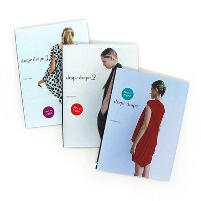 英文原版 佐藤久子(Hisako Sato)服裝設計三部曲:Drape Drape 123 服裝裁剪 時尚當代設計 服裝設計作品集