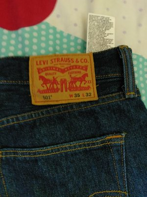levi's 501 shrink to fit--W35xL32 上漿版